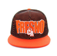 SM033 Fresno Hard Mesh Snapback Cap (Black & Orange)