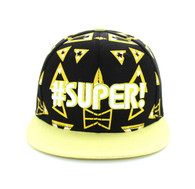 SM045 Super Snapback Cap (Black & Yellow)