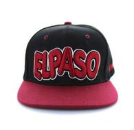 SM110 El Paso Snapback Cap (Black & Burgundy)