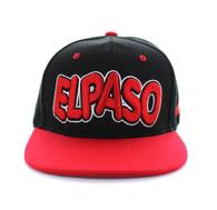 SM110 El Paso Snapback Cap (Black & Red)