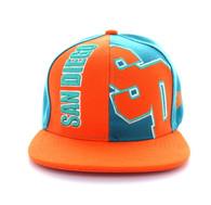 SM117 San Diego Snapback Cap (Aqua & Orange)