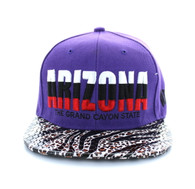 SM211 Arizona Snapback Cap (Purple)