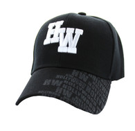 VM111 Hollywood Velcro Cap (Solid Black)