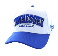 VM145 Tennessee Velcro Cap (White & Royal)