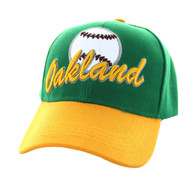 VM294 Oakland Velcro Cap (Kelly Green & Gold)