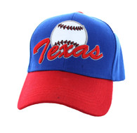 VM294 Texas Velcro Cap (Royal Blue & Red)