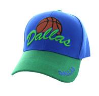 VM349 Dallas Velcro Cap (Royal Blue & Green)