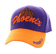 VM349 Phoenix Velcro Cap (Purple & Orange)