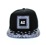 SM404 Arizona Snapback (Black & Black Bandana)