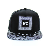 SM404 North Carolina Snapback (Black & Black Bandana)