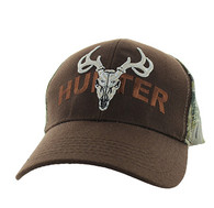 VM585 Hunter Velcro Cap (Brown & Camo)