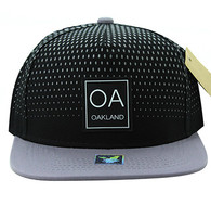 SM852 Oakland City Snapback (Black & Grey)