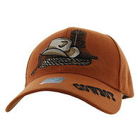 VM382 Cowboy Velcro Cap (Solid Texas Orange)