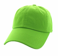 BP080 Washed Cotton Polo Style Caps (Solid Lime)