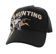 VM520 Hunting Duck Velcro Cap (Solid Black)