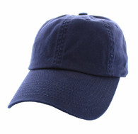 BP080 Washed Cotton Polo Style Caps (Solid Navy)