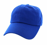 BP080 Washed Cotton Polo Style Caps (Solid Royal Blue)