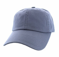 BP080 Washed Cotton Polo Style Caps (Solid Light Grey)