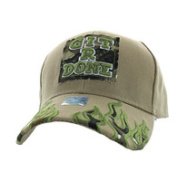 VM129 Git R Done Patch Velcro Cap (Solid Khaki)