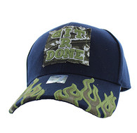 VM129 Git R Done Patch Velcro Cap (Solid Navy)