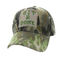 VM129 Git R Done Patch Velcro Cap (Solid Hunting Camo)