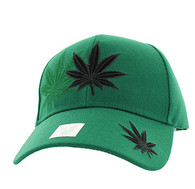 VM199 Marijuana Velcro Cap (Kelly Green)