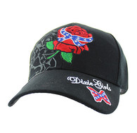 VM154 Dixie Girl Velcro Cap (Solid Black)