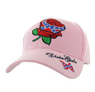 VM154 Dixie Girl Velcro Cap (Solid Pink)