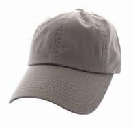 BP080 Washed Cotton Polo Style Caps (Solid Khaki)