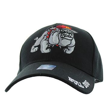 VM461 Marine Bull Dog Velcro Cap (Solid Black) - Ace Cap b8e1148db0a9