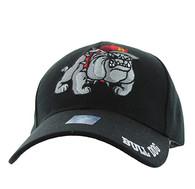 VM461 Marine Bull Dog Velcro Cap (Solid Black)