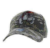VM461 Marine Bull Dog Velcro Cap (Digital Camo)