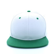 SP018 Two Tone Snapback Cap (White & Kelly Green)