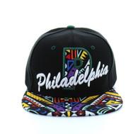 SM292 Philadelphia Snapback (Black & Green)