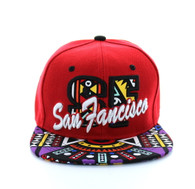 SM292 San Francisco Snapback (Red & Black)