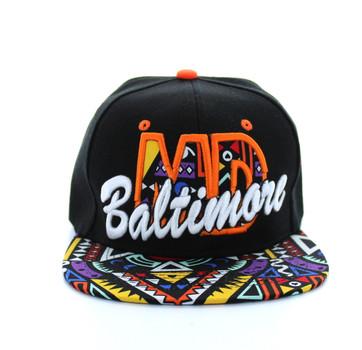 404544ceba4 SM292 Baltimore Snapback (Black   Orange) - Ace Cap