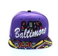 SM292 Baltimore Snapback (Purple & Black)