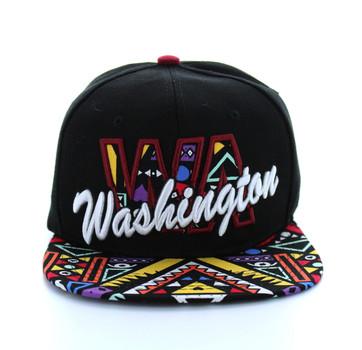 SM292 Washington Snapback (Black   Burgundy) - Ace Cap 87417d659abc