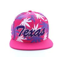 SM353 Marijuana Texas Snapback (Solid Hot Pink)