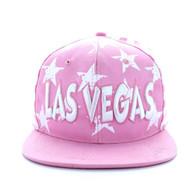 SM395 Las Vegas Star Cotton Snapback (Light Pink & White)