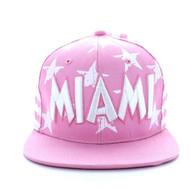SM395 Miami Star Cotton Snapback (Light Pink & White)