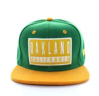 SM228 Oakland Snapback Cap (Green & Gold)