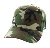 VP019 Blank Baseball Velcro Cap (Solid Military Camo)