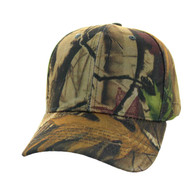 VP019 Blank Baseball Velcro Cap (Solid Hunting Tree Camo)
