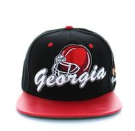 SM341 Georgia State Snapback (Black & Red)