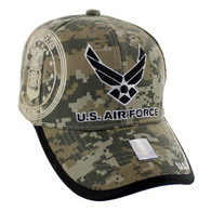 VM030 Military License Air Force #2 Baseball Velcro Cap (Solid Digital Camo)