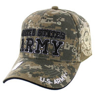 VM010 Military License Army #4 Baseball Velcro Cap (Solid Digital Camo)