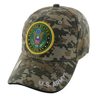 VM010 Military License Army #6 Baseball Velcro Cap (Solid Digital Camo)