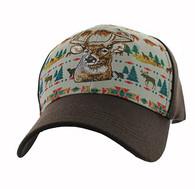 VM222 Native Deer Velcro Cap (Native & Brown)
