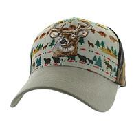 VM222 Native Deer Velcro Cap (Native & Khaki)